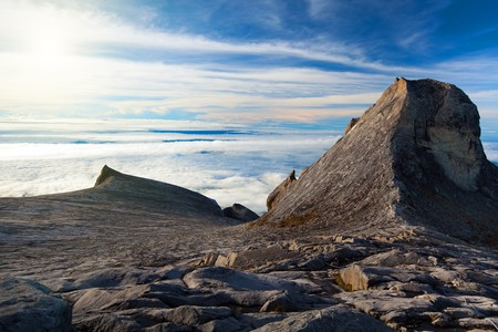 St. Johns peak and South peak at Mount Kinabalu