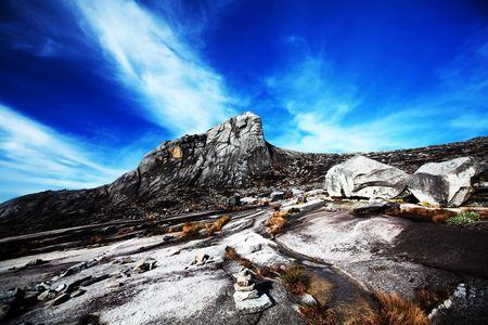 South peak at Mount Kinabalu Imagens