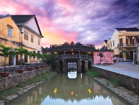 Japanese Bridge in Hoi An. Vietnam photo