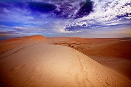 sandhills: Sandy desert Stock Photo