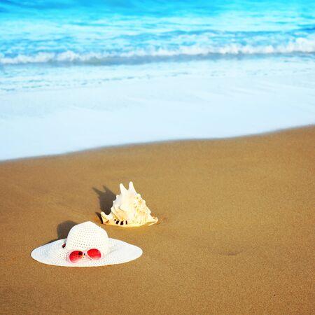 seashell and hat photo