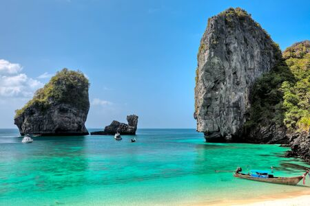 day time: Beautiful bay of Phi Phi island at day time