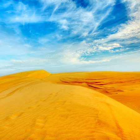 sandhills: Sandy desert at day time. Vietnam. Mui ne