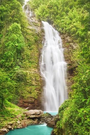 pu: Khe Kem Waterfall. Pu mat national park. Vietnam Stock Photo