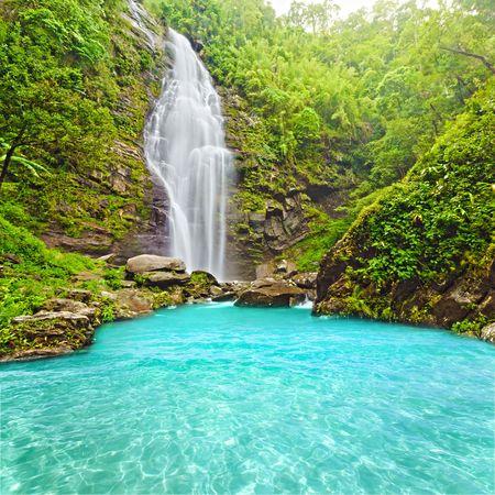 cascades: Khe Kem Waterfall. Parco nazionale di mat Pu. Vietnam  Archivio Fotografico