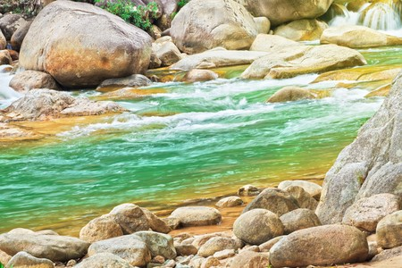 Beautiful mountain stream with rocky sides Stock Photo - 7598140