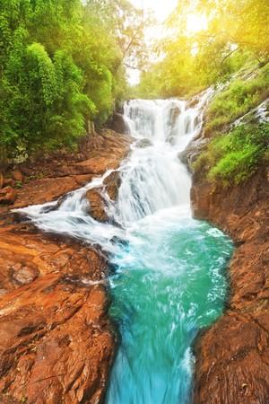 Beautiful Datanla waterfall at sunny day. Vietnam Stock Photo - 7694212