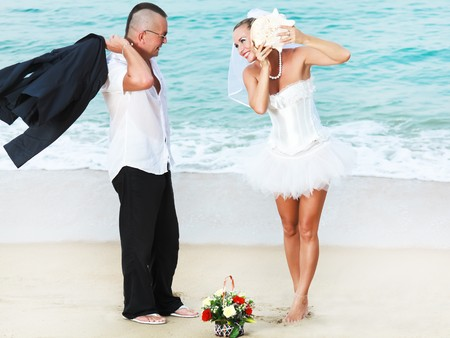Wedding on the tropical beach Stock Photo - 7941426