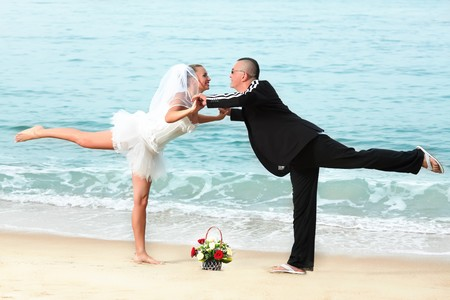 Wedding on the tropical beach Stock Photo - 7941431