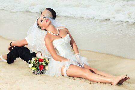 Wedding on the tropical beach Stock Photo - 7941438