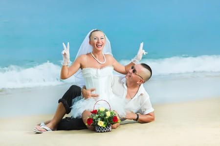 Wedding on the tropical beach Stock Photo - 7941423