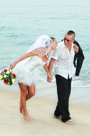 Wedding on the tropical beach photo