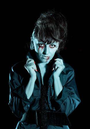 Woman as a vampire. Halloween face art Stock Photo - 8069104