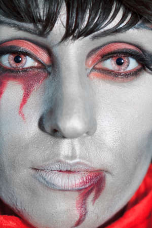 Woman as a vampire. Halloween face art Stock Photo - 8069167