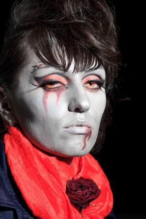 Woman as a vampire. Halloween face art Stock Photo - 8069166