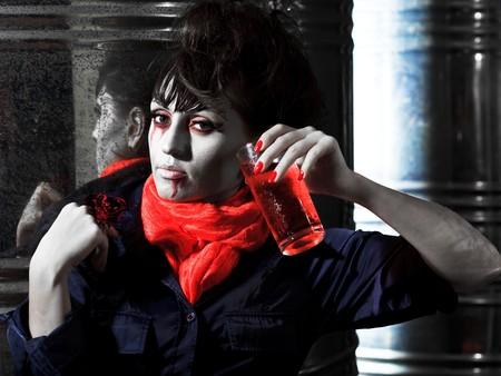 Woman as a vampire. Halloween face art Stock Photo - 8069119