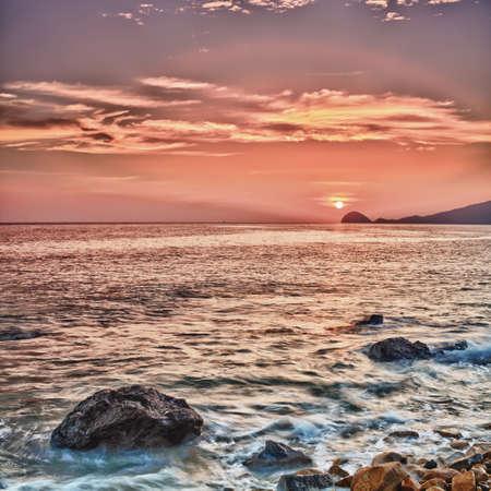 con dao: Sunrise over the sea. Con Dao. Vietnam