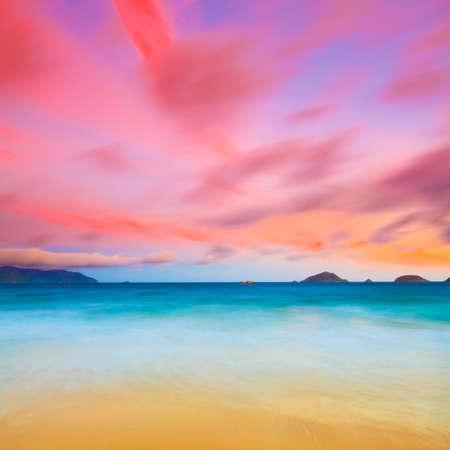 Sunrise over the sea. Con Dao. Vietnam Stock Photo - 9108998