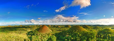 Panorama of The Chocolate Hills. Bohol, Philippines Stock Photo - 9106372