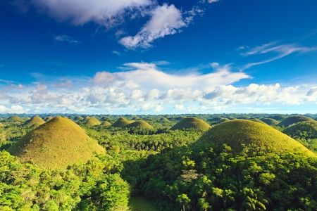 bohol: View of The Chocolate Hills. Bohol, Philippines Stock Photo