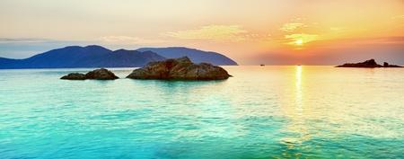 Sunrise over the sea. Con Dao. Vietnam Stock Photo - 9156063