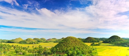 View of The Chocolate Hills. Bohol, Philippines Stock Photo - 9230218