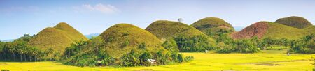 philippine: Panorama of The Chocolate Hills. Bohol, Philippines Stock Photo