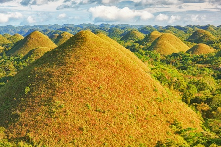 View of The Chocolate Hills. Bohol, Philippines Stock Photo - 9303469