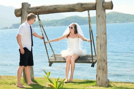 Wedding on the tropical beach Stock Photo - 9366011