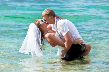 Wedding on the tropical beach photo