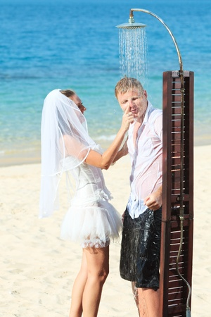 Wedding on the tropical beach Stock Photo - 9366024