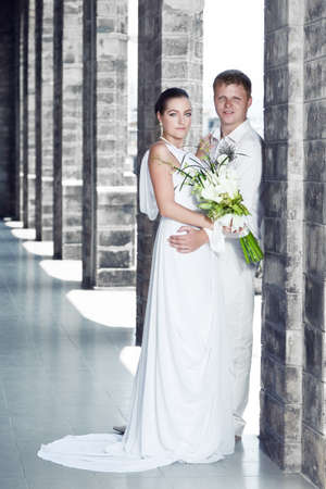 Wedding portrait of a bride and groom outdoor Stock Photo - 9454041