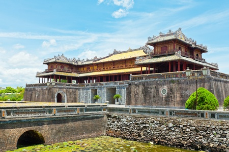 Citadel on the Northern bank of the Perfume River. Hue