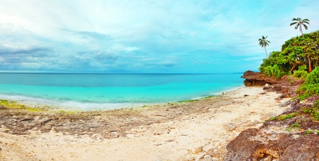 panoramic sky: Panorama of tropical lagoon. Bohol. Philippines