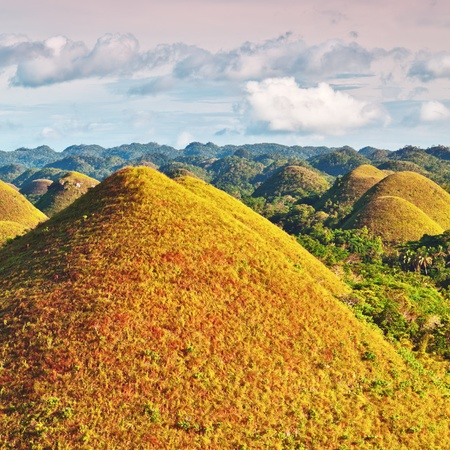 View of The Chocolate Hills. Bohol, Philippines Stock Photo