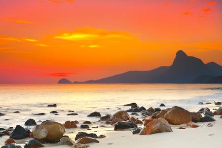 con dao: Sunset over the sea. Con Dao. Vietnam
