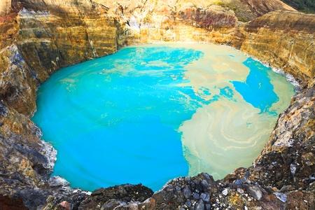 Wulkaniczne jeziora Nuamuri koofai. Park Narodowy Kelimutu.
