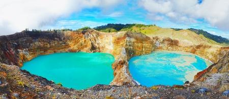 volcanic: Volcanic lakes Ato Polo and Nuamuri koofai . National park Kelimutu.