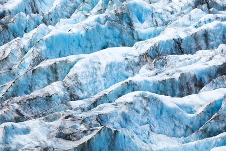 Textuur van de gletsjer in Nieuw-Zeeland