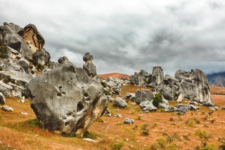The Castle hill  Southern Alps  Arthurs Pass  New Zealand photo