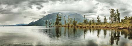Lake Brunner panorama  New Zealand photo