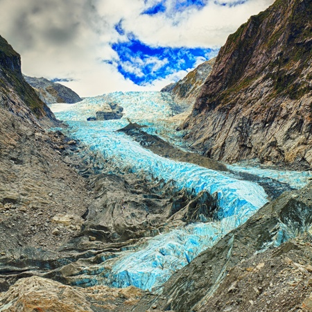 Franz Josef glacier in New Zealand 免版税图像 - 12560231