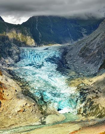 fox face: Fox Glacier en Nueva Zelanda