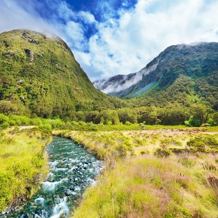 Mountain Valley op de weg naar Milford Sound