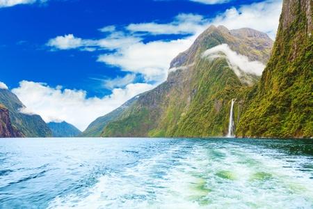 fiordland: Milford sound fiordland  New Zealand Stock Photo