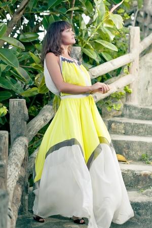Fashion style photo of beautiful woman outdoor Stock Photo - 13214626
