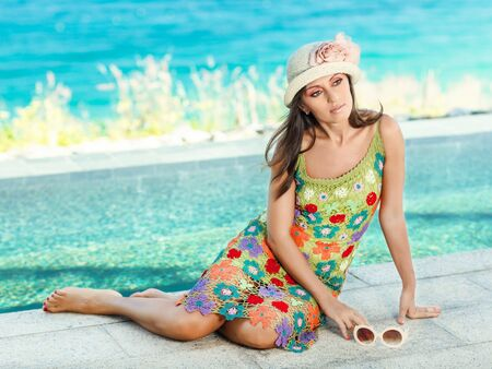 Beautiful woman in sunglasses and hat outdoor Stock Photo - 13442194