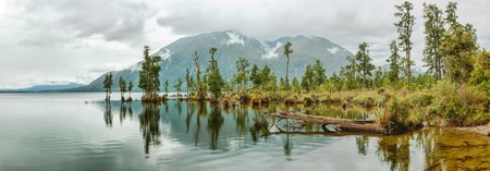 Lake Brunner panorama. New Zealand photo