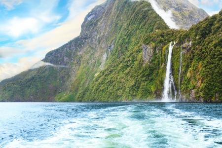 new zealand: Milford sound  New Zealand fiordland Stock Photo