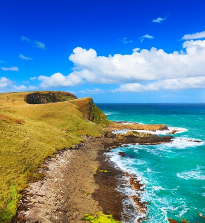 bluff: Coastal view at day time Stock Photo